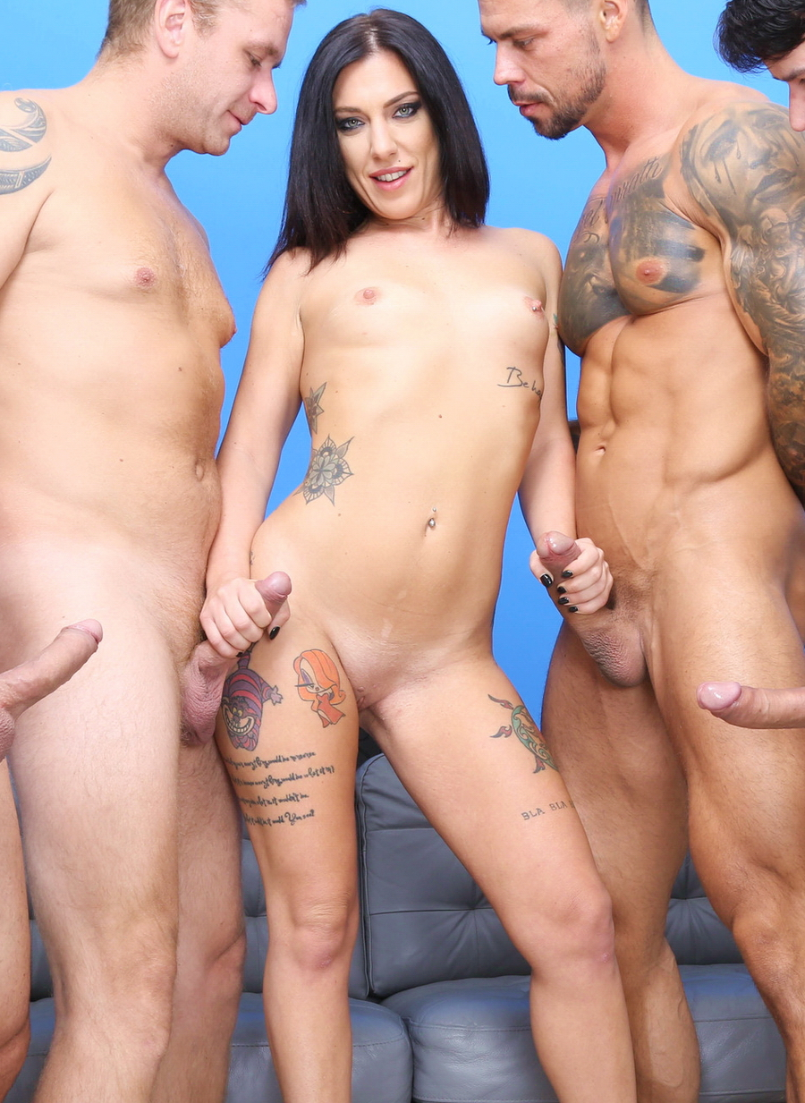 Sabrina Ice - DAP Destination, Sabrina Ice 4 On 1 First Time DAP With Balls Deep Anal, Gapes And Swallow GIO1603 (HD) 2020
