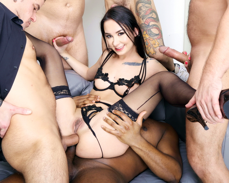 Freya Dee - 7 On 1 Double Anal Gang Bang, Freya Dee Balls Deep Anal, DAP, Gapes, First ButtRose And Swallow GIO1738 (HD) 2021