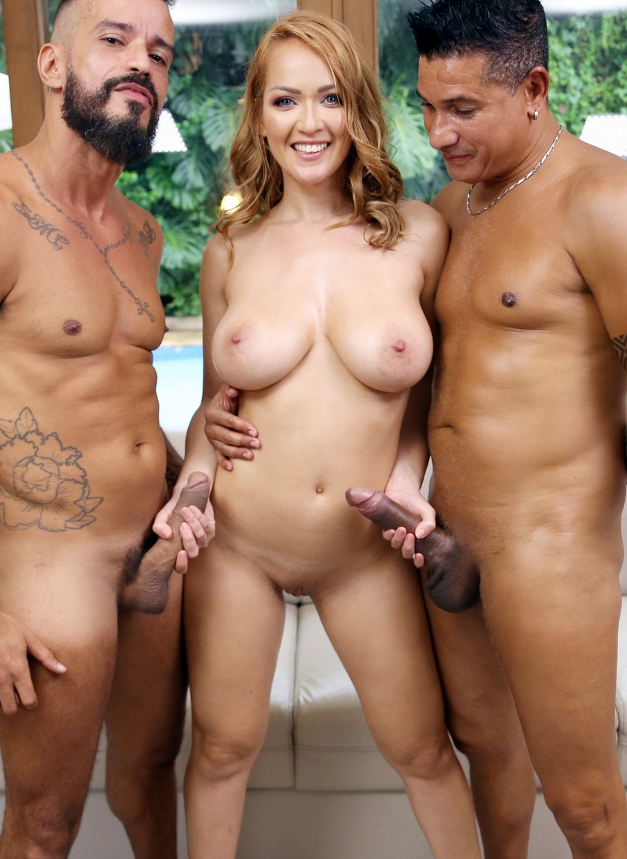 Larissa Leite - Busty Larissa Leite Gets Her First DP And DVP In Hot Threesome YE071 (HD) 2021