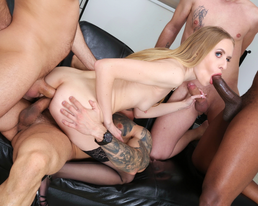Nikki Riddle - Nikky Riddle 4 On 1 With DAP, Humiliation, Good Gapes And Swallow GL436 (SD) 2021